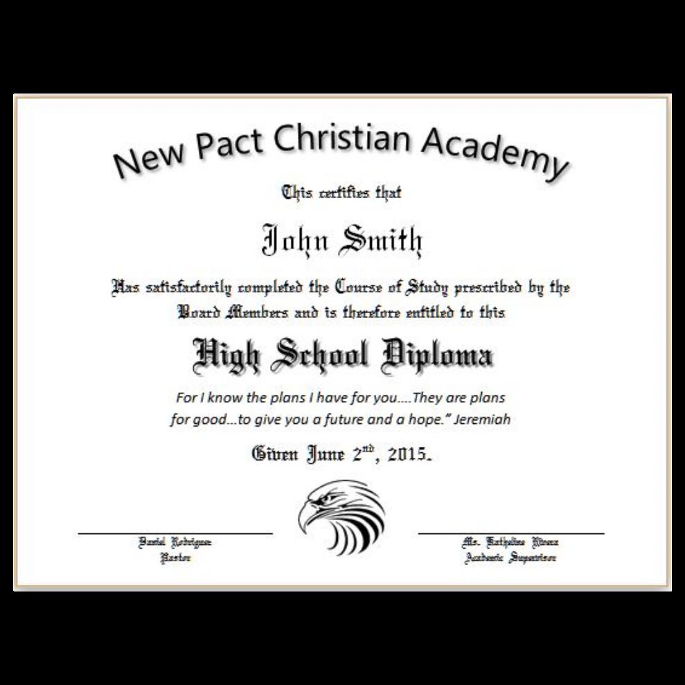 diploma or certificate