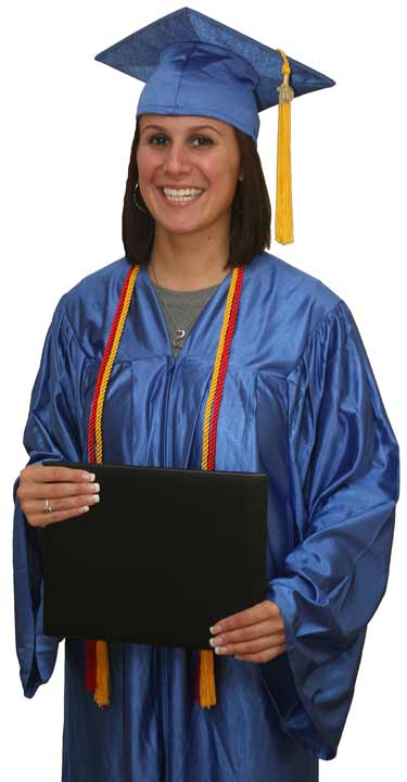 Primary Package 2 Cap,Gown,Tassel,Diploma Cover,Economy Cap and Gown,honor cords,cord,deal,package,rental