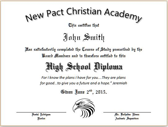 high school diploma print out