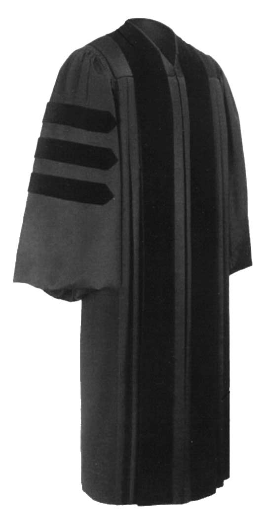 University gown ph d gown doctoral gown for Personalized last name university shirts